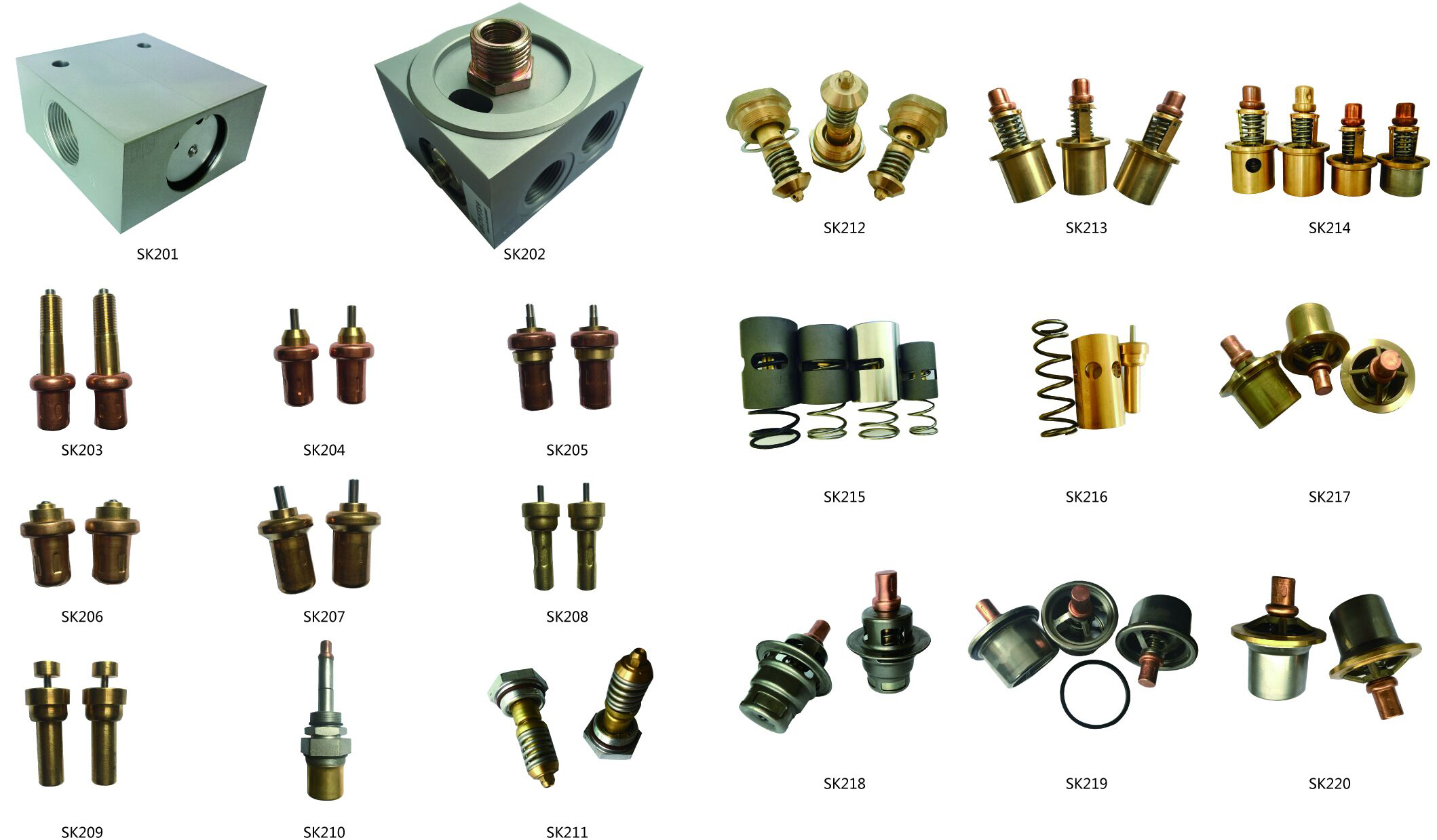 Air compressor spare parts temperature control valve core